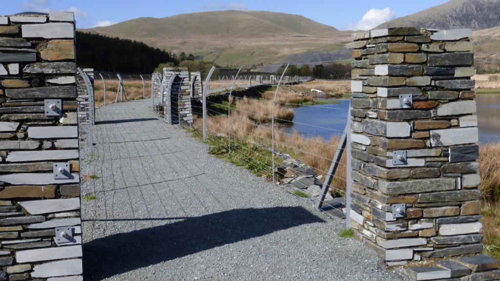 Across the causeway by Llyn Cwellyn