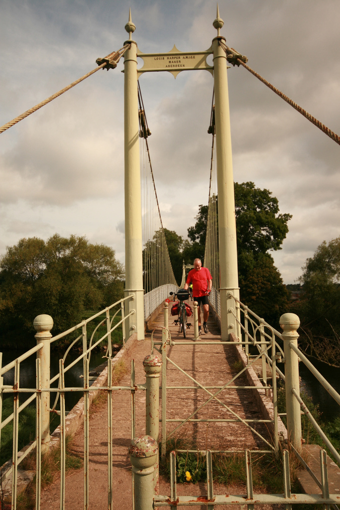 Crossing the Wye. Image © Zoe Weston.