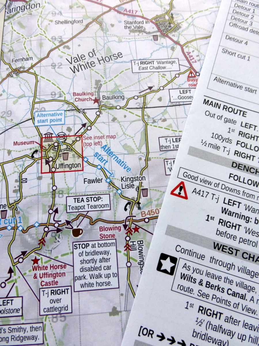 Map and route sheet