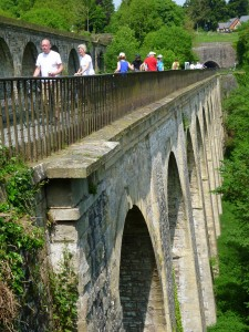 Crossing the Chirk Aqueduct