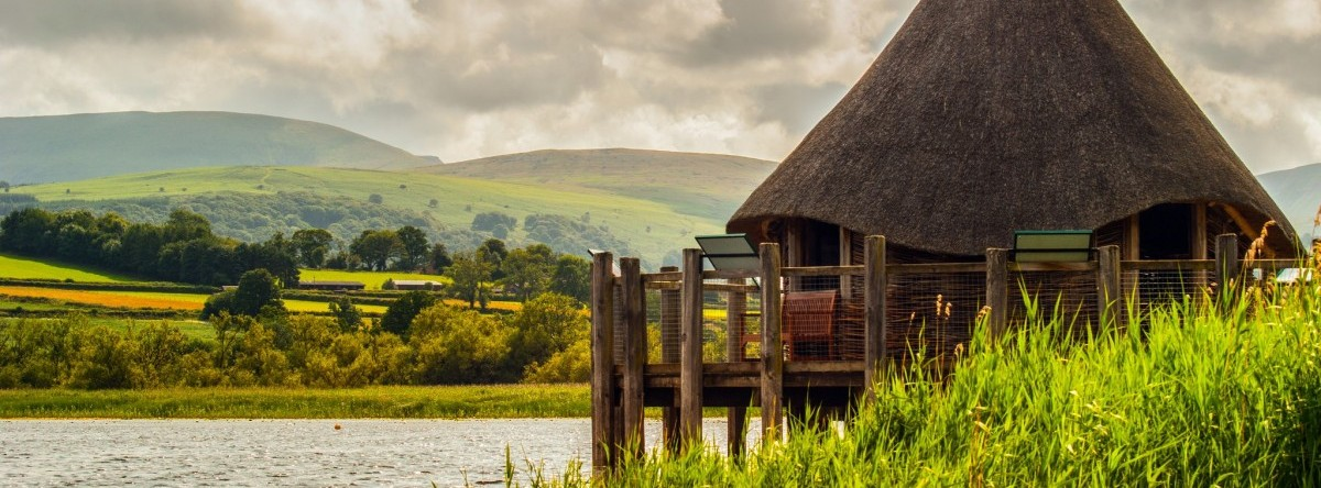The Crannog on Llangorse Lake by Phil Dolby from Flickr CC-BY-2.0