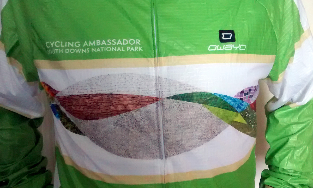 That colourful Ambassador jersey. slightly crumpled like its wearer)